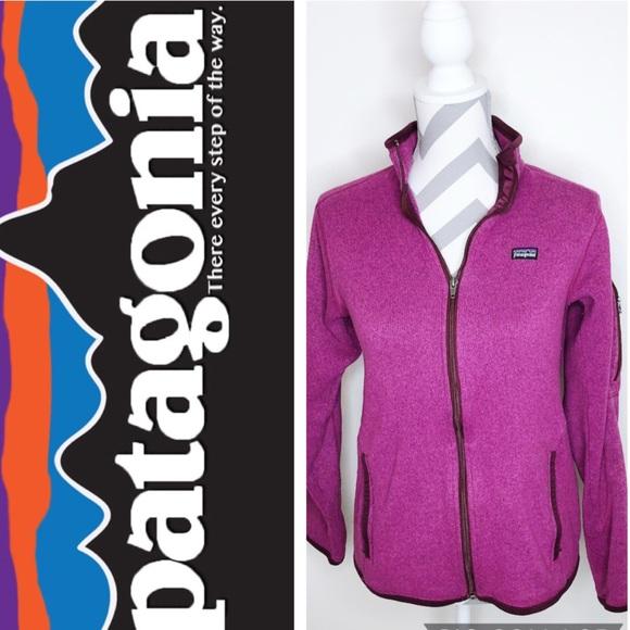 Patagonia Jackets & Blazers - PATAGONIA Magenta Zip Up Wool Jacket